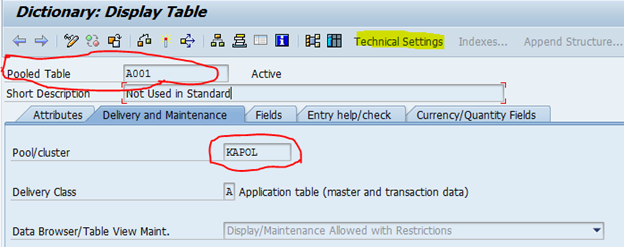 Frequent operations on sap tables in sap performance for Show parameter pool