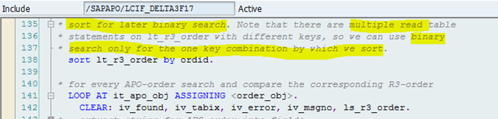 Binary search abap read table
